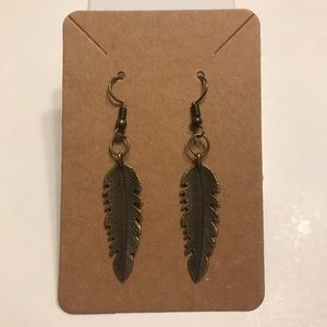 2/$15 Antique Style Feather Earrings